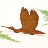 Löffler Brosche, Vogel, Holzbrosche