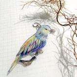 Vogel Kette, Kette Vogelzeichnung, Gabelracke