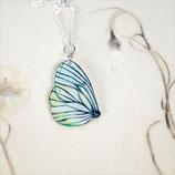 Schmetterling Kette, weißer Schmetterling, Unikat