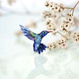 Kolibribrosche, Kolibri, Vogelschmuck, Ansteckbrosche Vogel, Kolibri