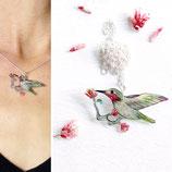 Sternelfe, Kette Sternelfe, Kolibrikette, Vogel Kette, Sternelfe mit Blüte