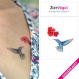 •AUSVERKAUFT •Kolibri und Blüte Tattoos, Temporary Tattoo