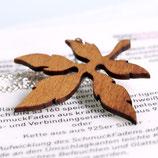 Kette Blatt, floraler Schmuck, Silberkette Blatt