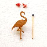 kleiner Flamingo, Flamingo Brosche, Flamingobrosche, Holzbrosche