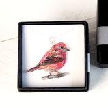 Purpurgimpel, Kette Gimpel, Zeichnung Gimpel, Vogelkette, roter Vogelanhänger, Zeichnung Vogel