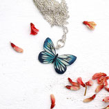• VERKAUFT • Schmetterlingkette, Schmetterlinge, Schmetterling-Kettenanhänger, Schmetterling Kette