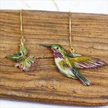 Ohrringe Sternelfe, Kolibri Ohrringe, Sternelfe, lange Ohrringe, Ohrkette vergoldet