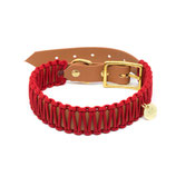 "Biothane Paracord Halsband ""COGNAC & ROT"""