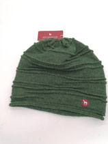 Schöne Alpaka Mütze dunkel grün in L
