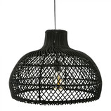Earthware rotan hanglamp zwart Debby M