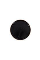 Zusss gebaksbordje aardwerk zwart