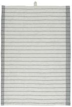 IBlaursen theedoek wit/grijs met zwarte strepen