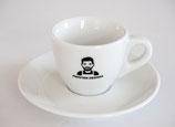 SET 2x Espresso Tasse mit Untertasse