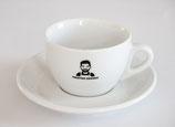 1x Cappuccino Tasse mit Untertasse