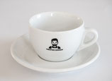 SET 6x Cappuccino Tasse mit Untertasse