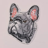 Patch Dogge grau 7,5x5,5