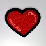 Patch Herz rot 6,5x5cm