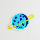 Patch Planet blau gelb 7,5 x 4cm