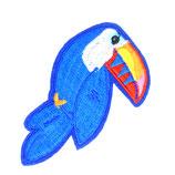 Patch Vogel blau