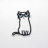 Patch Katze mit Brille 4,5x6cm