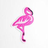Patch mit Flamingo pink 5,5x8,5cm