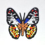Patch Schmetterling blau-rot-weiß-gelb / 5x5cm