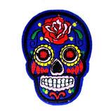 Patch Skull blau / 7,5x5cm