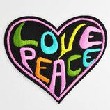 Patch Love Peace 8,5 x 8 cm