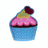 Patch Muffin blau 6,5x5,5cm