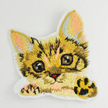 Patch Katze hell 7,5 x 7cm