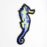 Patch Seepferdchen blau 9x4cm
