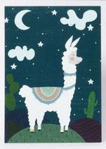 """Postkarte """"Lama"""""""