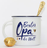 """Porzellan Kaffebecher """"Opa """""""