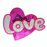 Patch Herz Love 11x8cm
