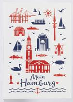 """Postkarte """"Moin Hamburg"""""""