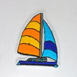 Patch Segelboot / gelb-blau / 5,5x4,2cm
