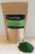 Phytolize Marines PHYTOPLANKTON (100% Nannochloropsis gaditana), Pulver/vegane Kapseln