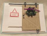 """Geburtstagskarte """"Schiebetür"""" mit Panda oder Schweinchen"""