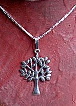 Silberanhänger Lebensbaum mit Kette