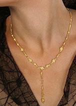 Vergoldete Silberkette