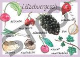 Postkarte Lëtzebuergesch Obst und Gemüse 1