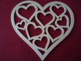 Fensterbild Herz mit 8 Herzen