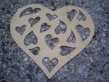 Fensterbild Herz mit Herzen
