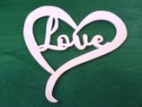 Fensterbild Herz mit Love