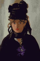 Dama con violeta.