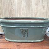 アピタオーバル(釉薬塗り)グリーン