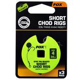 FOX - Edges Stiff Chod Rigs Short Micro Barbed