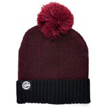FOX - Chunk Burgundy/Black Bobble Hat