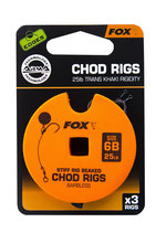 FOX - Edges Stiff Chod Rig Standard Barbless