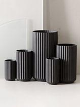 Designervase Lyngby, Porzellan schwarz, Trendprodukt